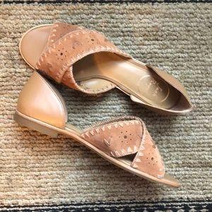 Jack Rodgers Lindsay suede sandal